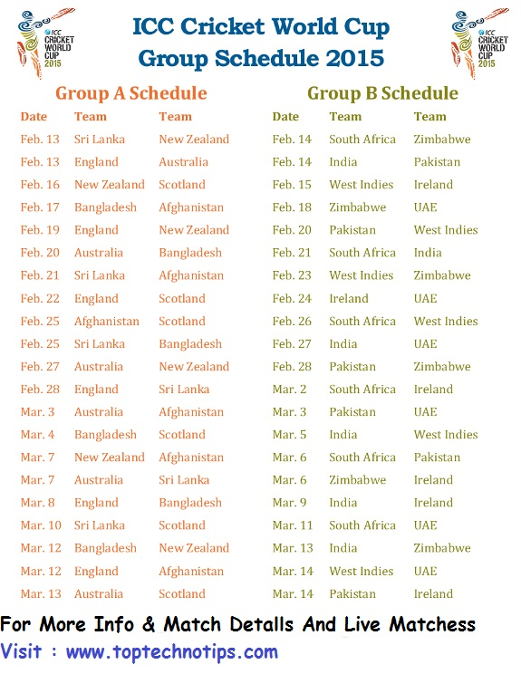 World Cup Cards World Cup Full Match Schedule
