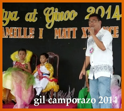 Sir Allan Marabayles proclaiming the CES Mutya at Ginoo 2014