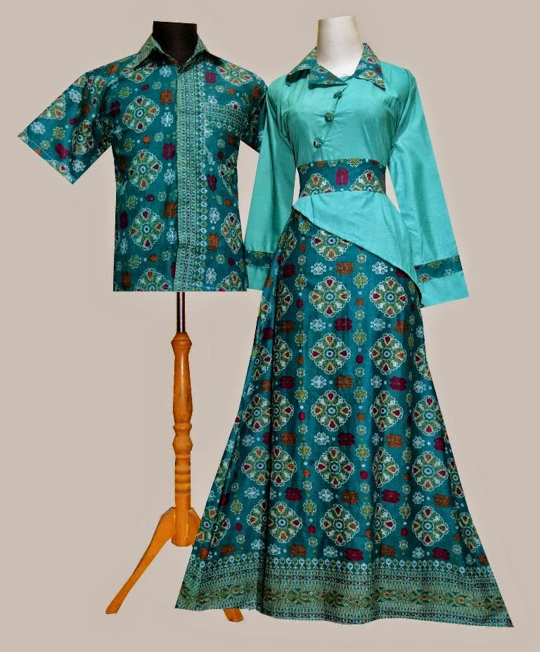 Model Gamis Batik Songket 2016
