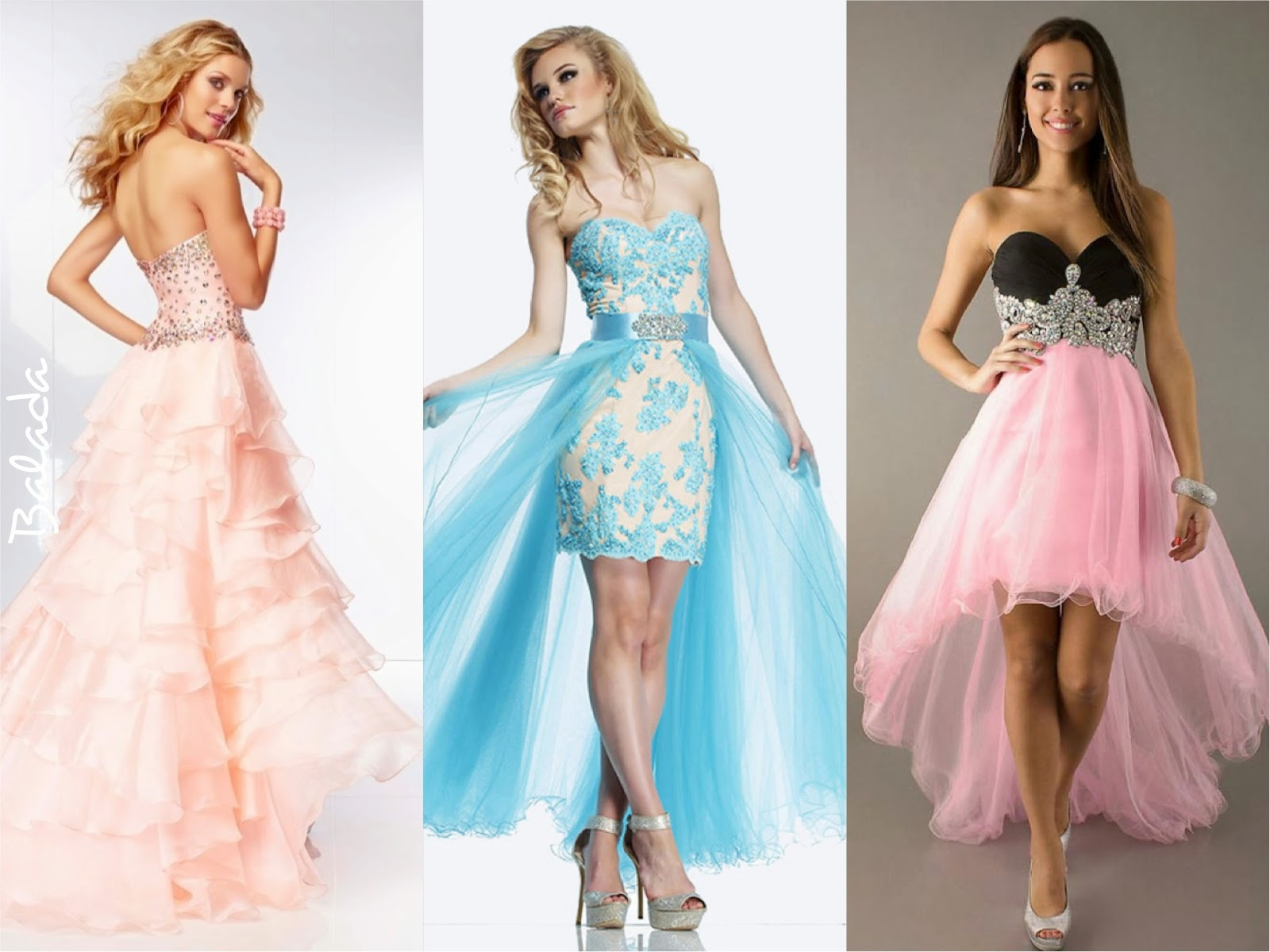vestido debutante balada