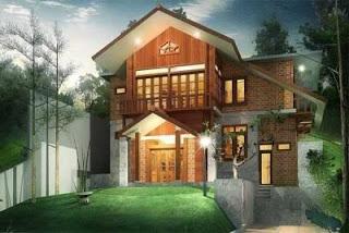 gambar desain rumah kayu minimalis modern untuk hunian