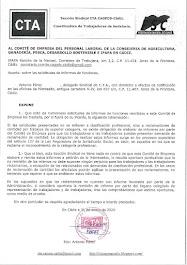 Remitimos al Comité de Empresa un escrito sobre los informes de funciones