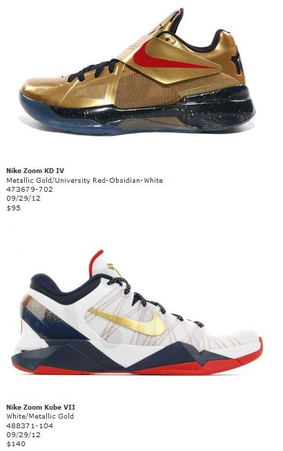 """sale retailer f39f7 46304 Nike Basketball """"Gold Medal"""" Sneaker Pack Release Date"""