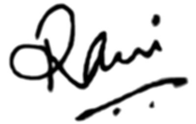 Rani Mukherjee`s signature