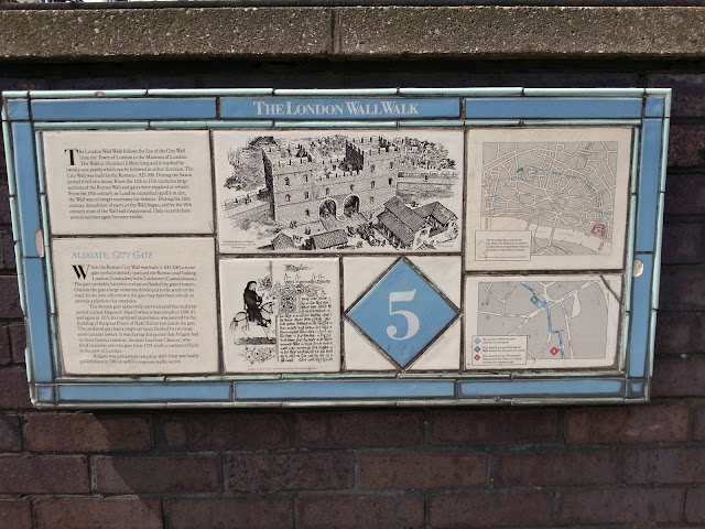 The London Wall Walk - Plaque 5