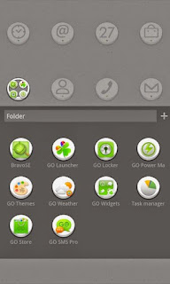 Screenshots of the Button GO LauncherEX Theme for Android mobile, tablet, and Smartphone.