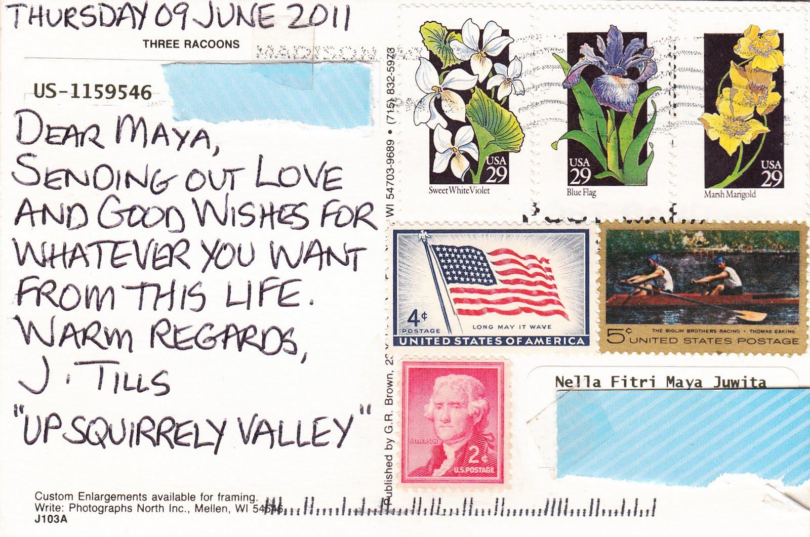 Sending postcards usa
