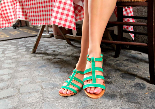 Sophia sandals from the Roman Holiday collection
