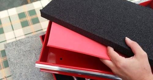 werkzeugaufbewahrung mit selbst hergestellten pe schaum werkzeugeinlagen. Black Bedroom Furniture Sets. Home Design Ideas