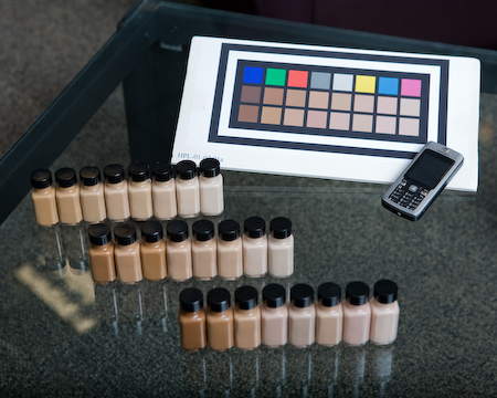 Special color chart and foundation palette
