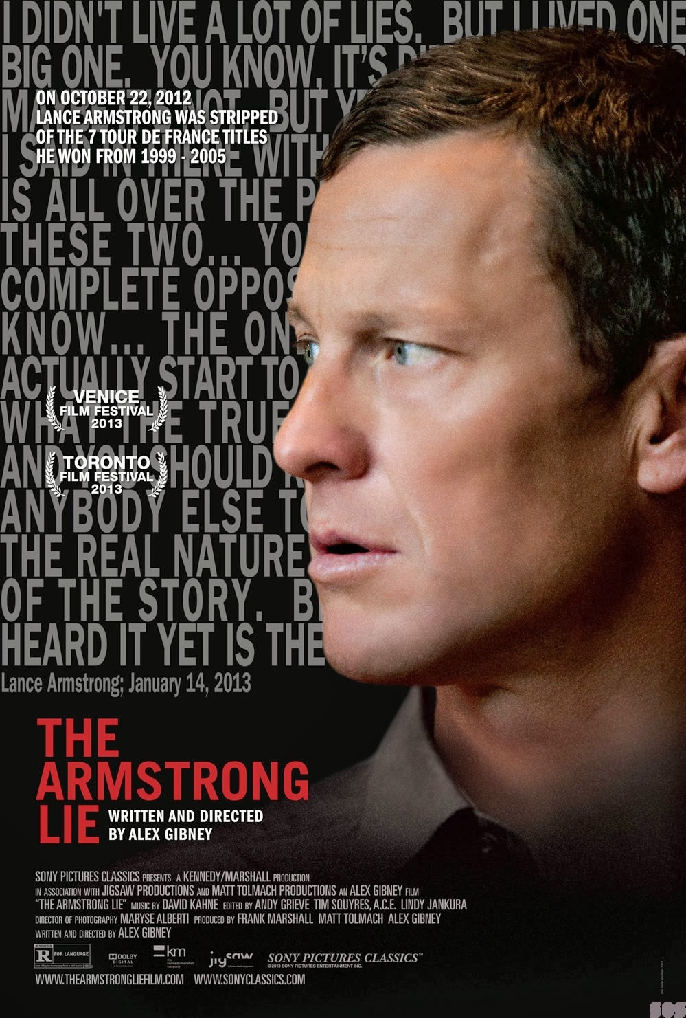 screen on screen 2013 posters for the armstrong lie the invisible w the past