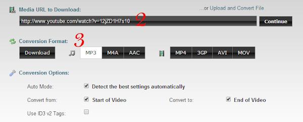 cara ubah format video ke mp3