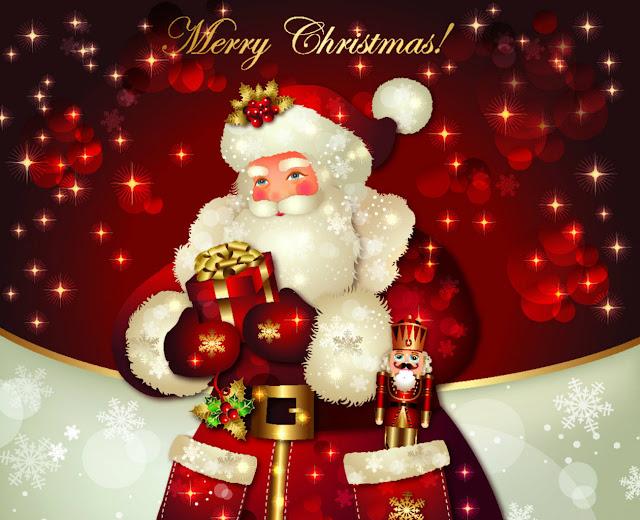 animated santa Merry Christmas wallpapers