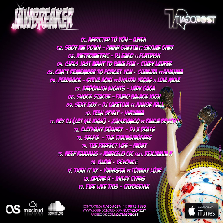 DJ Tiago Rost - JAWBREAKER (Back CD Cover)