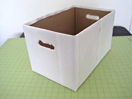 Reciclando cajas mimundomanual - Forrar cajas de carton con telas ...