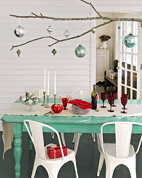 vintage retro christmas table