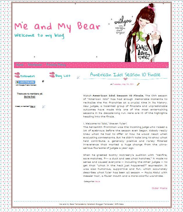 Free blogger template me and my bear blogger template pronofoot35fo Gallery