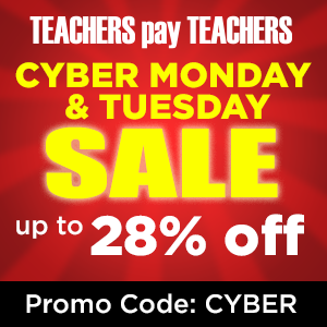Cyber Monday Sale for Teachers