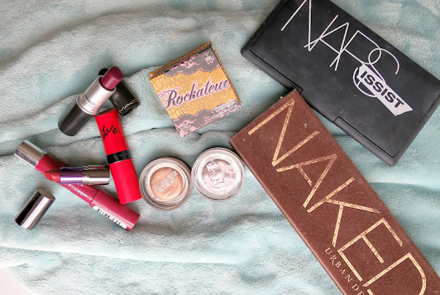 Autumn Beauty Make Up Shopping My Stash Urban Decay Revln Rimmel Mac Lipstick Maybelline Nars Eyeshadow Benefit Blush
