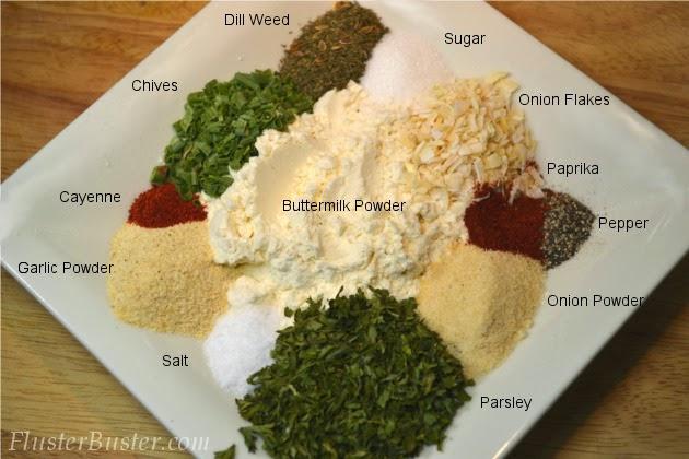 Homemade Ranch Seasoning Mix & Salad Dressing (Buttermilk)