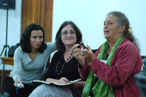 Vertice 2012. Marisa Naspolini, Jill Greenhalgh y Julia Varley