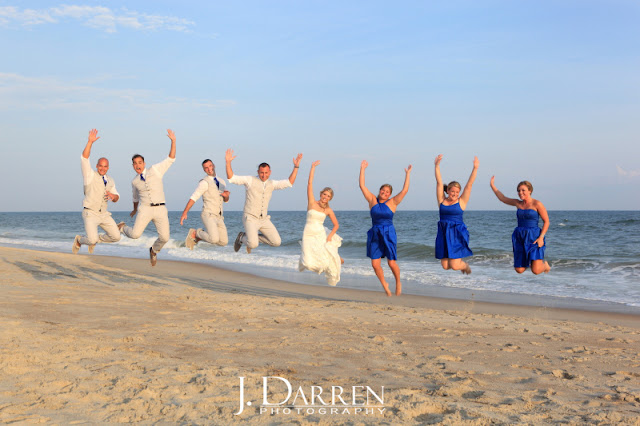 photo of An Emerald Isle beach wedding in North Carolina trash the dress
