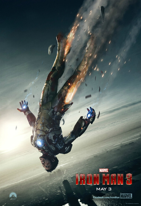 Iron Man 3 - poster con la caida de Tony Stark