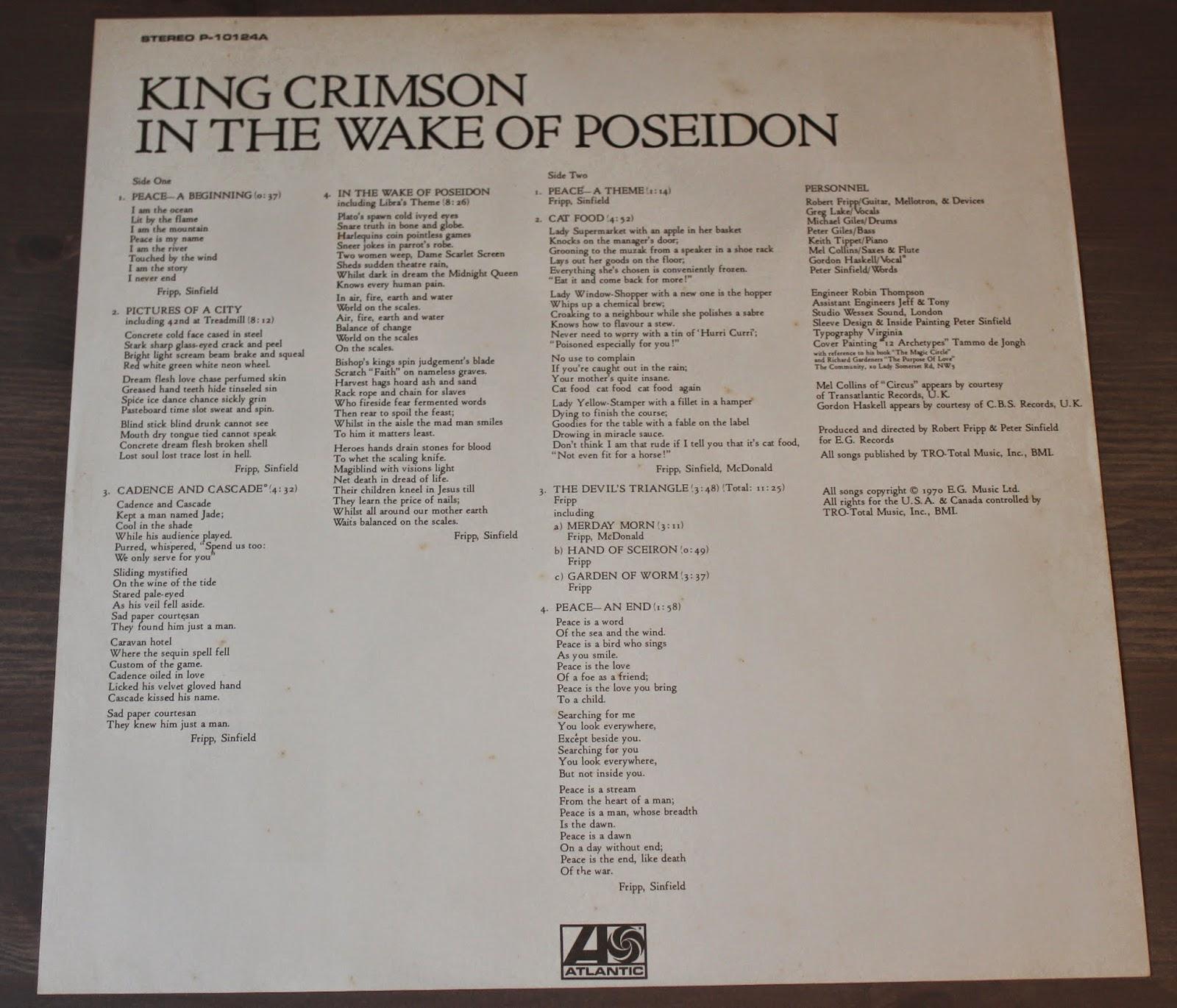 KING CRIMSON In The Wake Of Poseidon