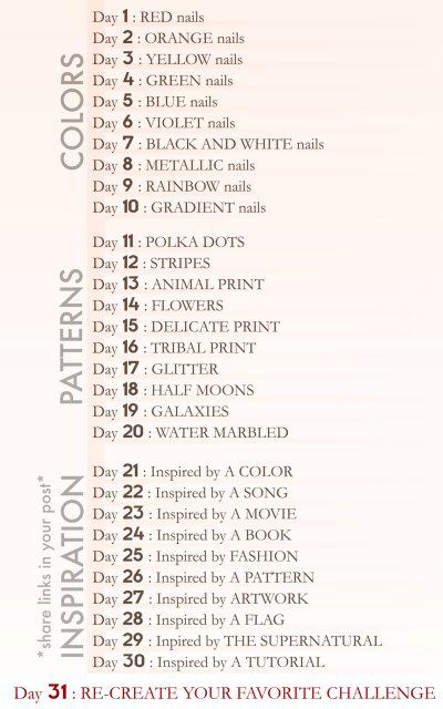 30 Day Character Design Challenge Tumblr : Obsessed day nail art challenge starting tomorrow