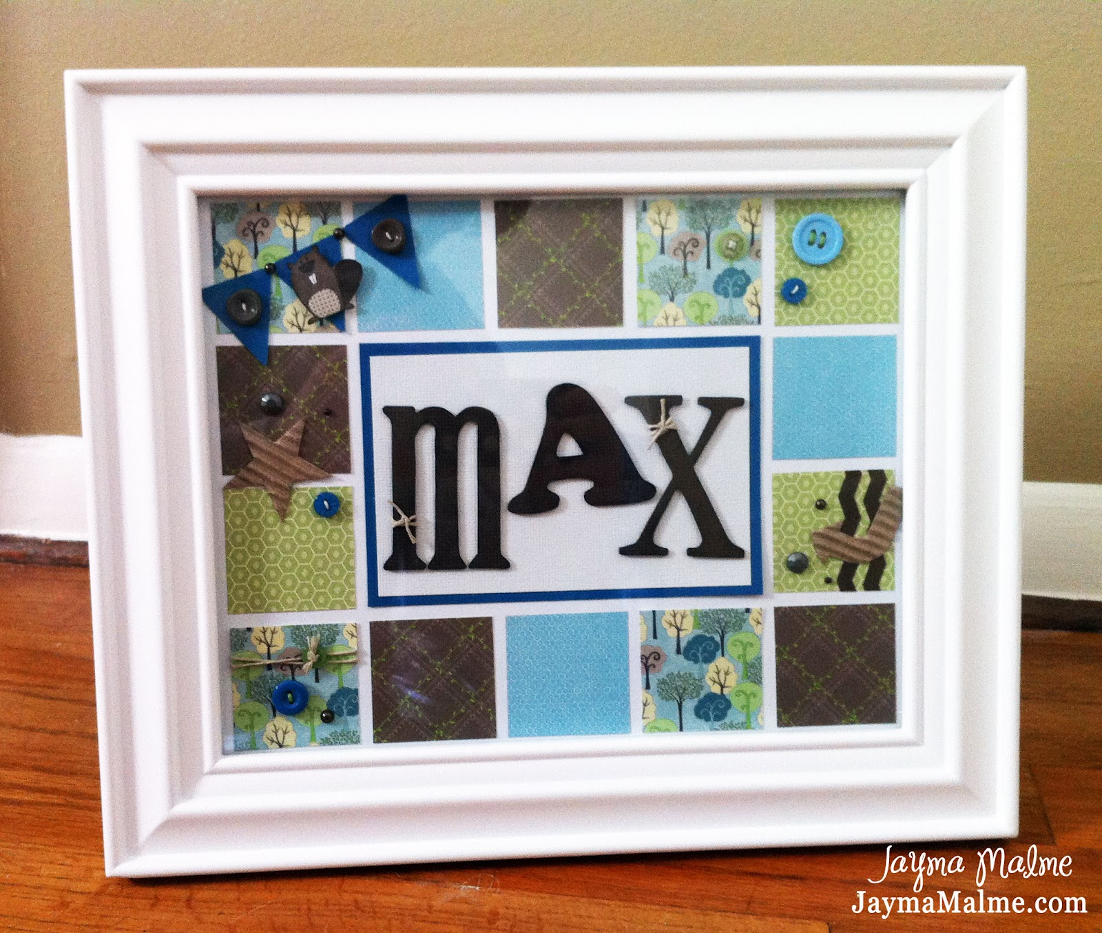 Playing with Paper: Scrapbooks, Cards & DIY: Baby Boy Name Frame for ...