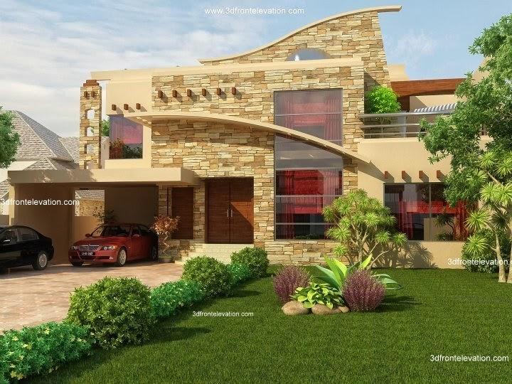 3D Front Elevation.com: 50\' X 90\' 1 Kanal Beautiful 3D Front ...