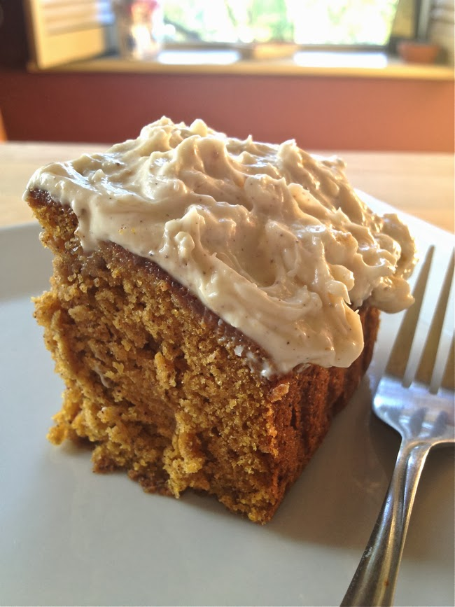 Try Me Tonight: Pumpkin Spice Cake with Honey Frosting