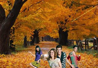 Wallpapers dos Morangos com Açucar Jovens atores a dançar o musical em fundo de tela Árvores do Outono