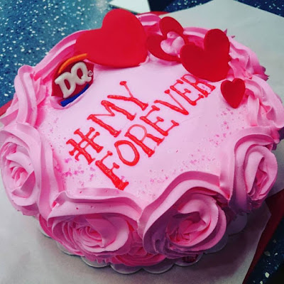 Dairy Queen Pink Valentine Dedication Cake