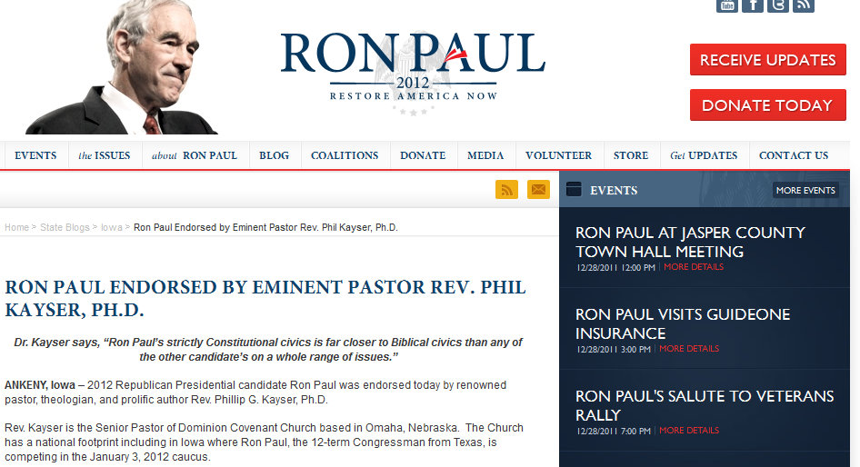 Ron paul dating site