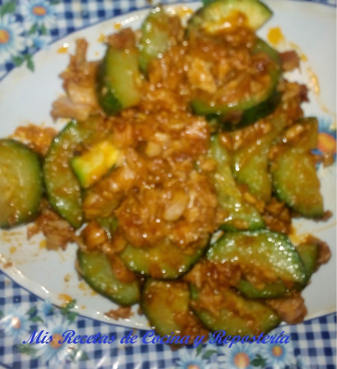 Mis recetas de cocina y reposter a calabac n con at n y for Cocina de isasaweis