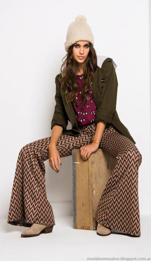 Moda otoño invierno 2014 . Doll Store ropa de mujer moda juvenil 2014 pantalones palazzos y oxford.