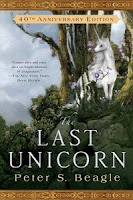 Book cover of The Last Unicorn by Peter S. Beagle