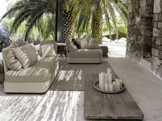 Bahçe mobilyaları tasarımları sandalye masa salıncak veya