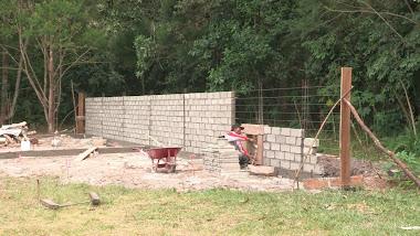 Début construction enclos
