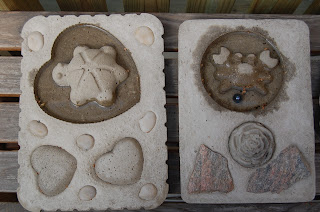 betongdekorationer/fågelbad