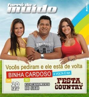 Binha Cardoso reestreia no Forró do Muído dia 10