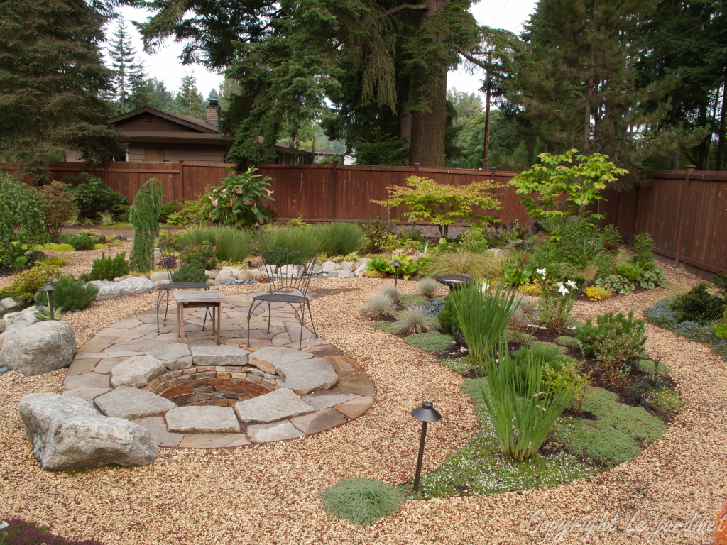 Garden adventures for thumbs of all colors patio design Backyard designs with gravel