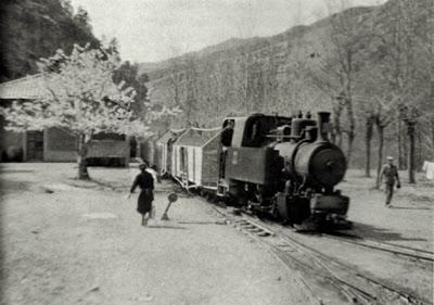 tren estacion castellar d'nuc fabrica clot del moro asland abandono tren cement cemento