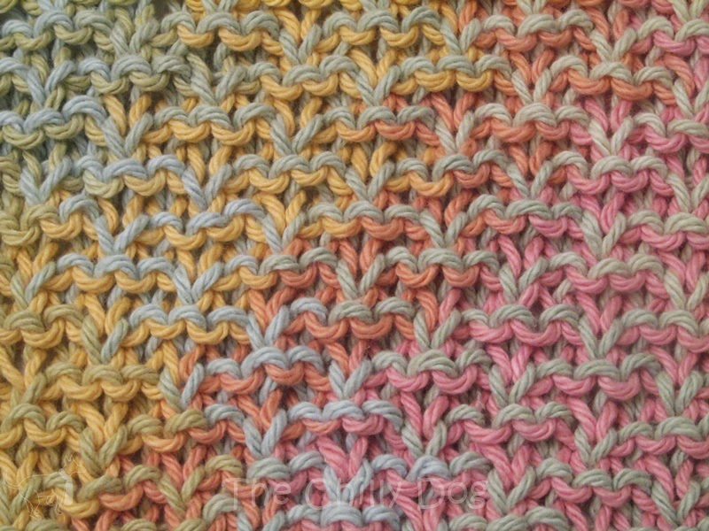 Knitting Pattern: Textured Washcloth The Chilly Dog
