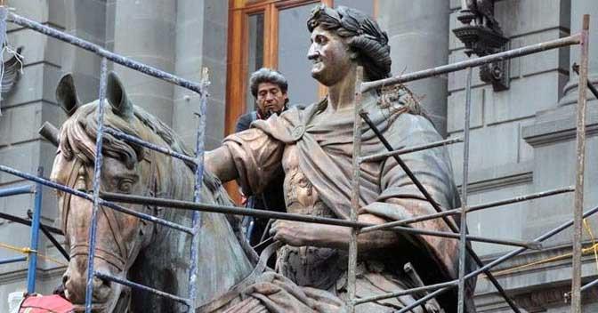 El Caballito es una estatua en Ciudad de México en honor al rey