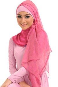 Elzatta Selendang Selvia Aline - Tropical Rose (Toko Jilbab dan Busana Muslimah Terbaru)