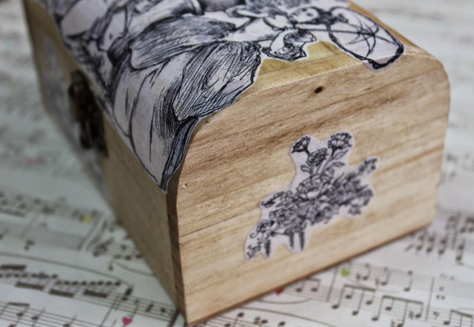 Sumaluna cajas de madera estilo vintage - Como decorar cajas de madera estilo vintage ...