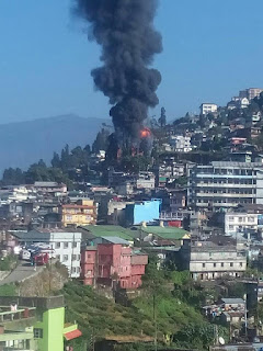 fire broke out in kurseong town