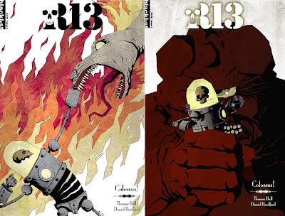 Robot 13 Issue #2 & Issue #3 Cover Artwork by Daniel Bradford